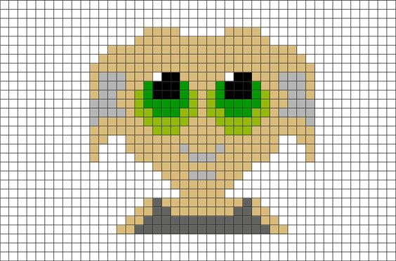 Hama Beads Harry Potter Dobby