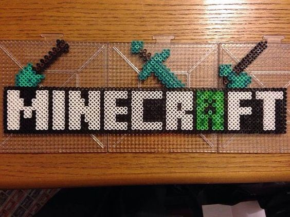 hama beads minecraft creeper