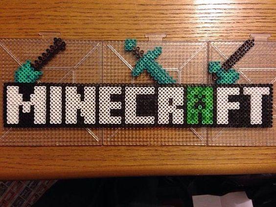 hama beads minecraft creeper