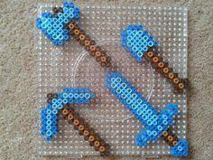 hama beads minecraft caras