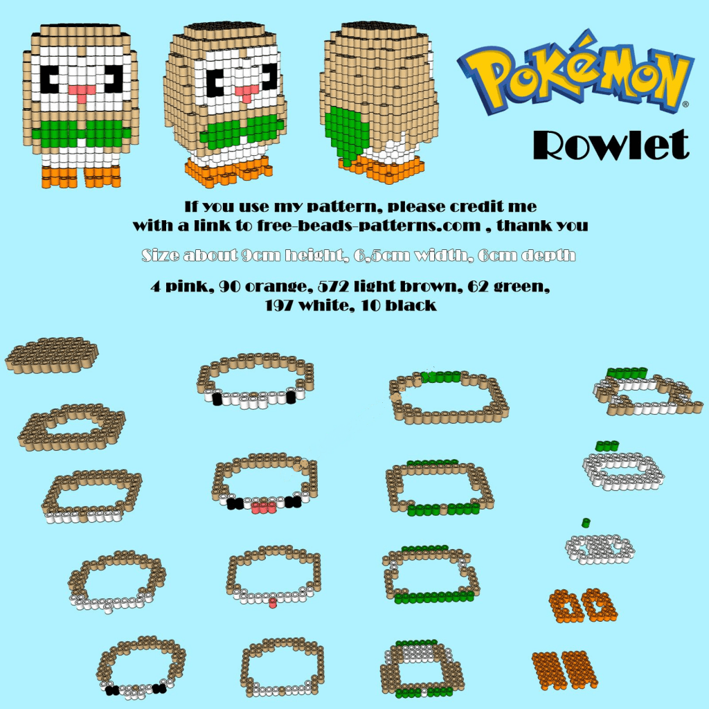 Hama Beads Pokemo 3D