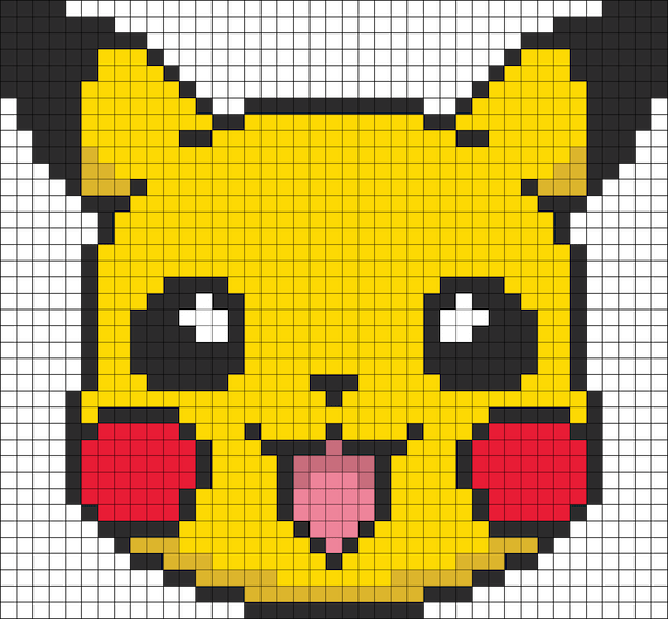 Hama beads pokemon pikachu