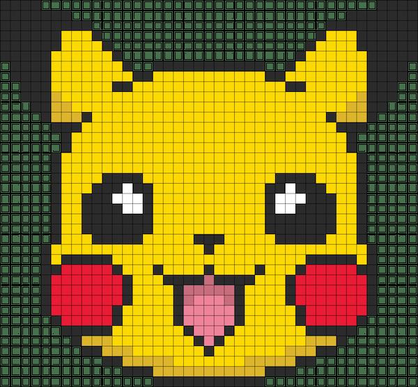 Hama beads pokemon pikachu