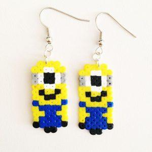 Hama Beads Minions Llavero