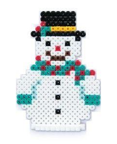 Hama beads navidad muñeco de nieve