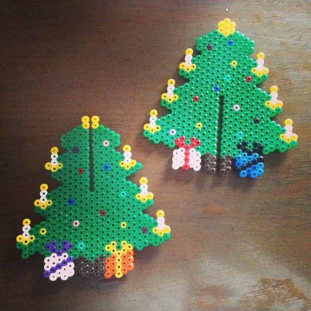 Hama Beads navidad muñecos de nieve
