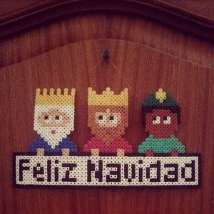hama Beads navidad reyes magos