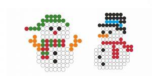 Hama beads muñeco de nieve