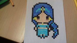 princesa Hama Beads patrones