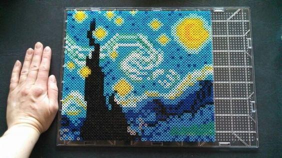 Hama Beads patrones 3D