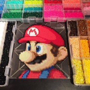 Hama beads Mario plantilla
