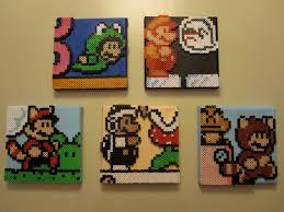 Hama Beads Mario Bros 3d