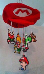 Hama Beads Mario Bros flor