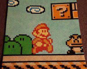 Hama Beads Mario Bros yoshi