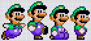 Hama Beads Mario Bros imagenes