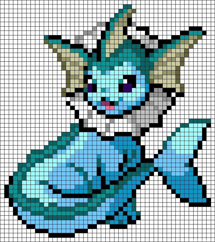 plantillas hama beads pokemon